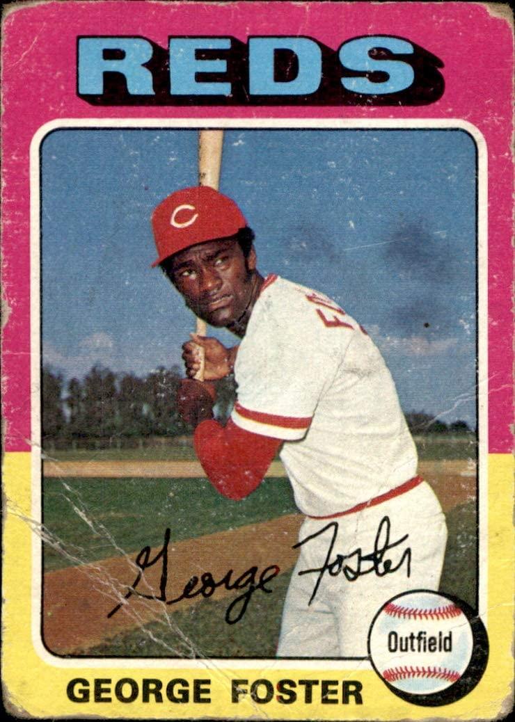 1975 Topps #87 George Foster CINCINNATI REDS (poor, use for set filler only) Vintage MLB Baseball Trading Card (Sku8CB)