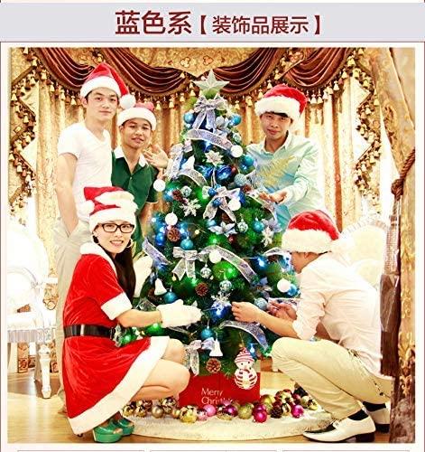Barm 6.8FT Artificial Christmas TreeIt Premium Spruchinged Tree w/Ul CertifieMulticoloreLed Lights & FoldablMetal Stand-Blue 6.8ft(210cm)