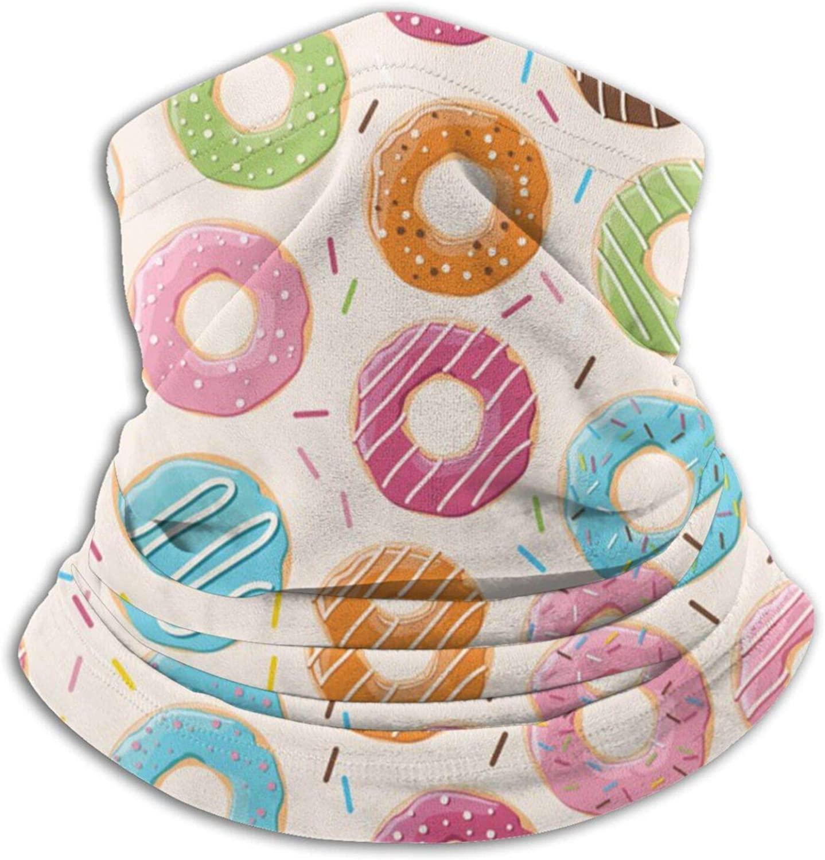 Cartoon Donut Outdoor Neck Warm Scarf Turban Multifunctional Headband Bib Neck Guard Neck Leggings Balaclava