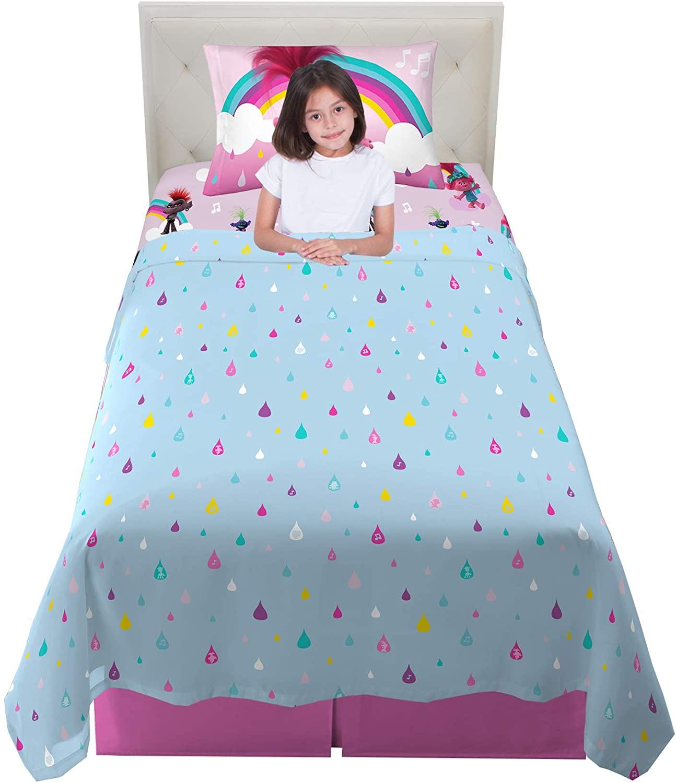 Franco Kids Bedding Super Soft Microfiber Sheet Set, 3 Piece Twin Size, Trolls World Tour