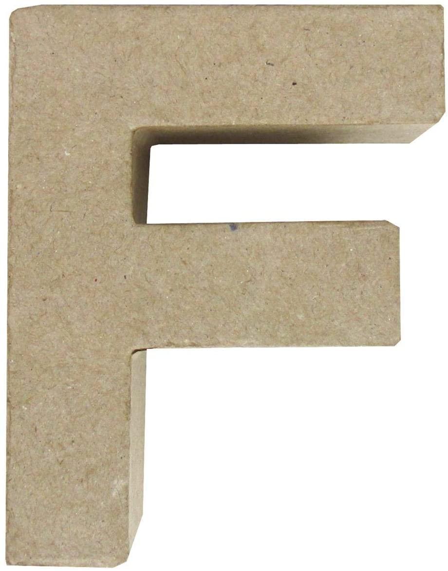 PA Paper Mache 4 Letter F Kraft