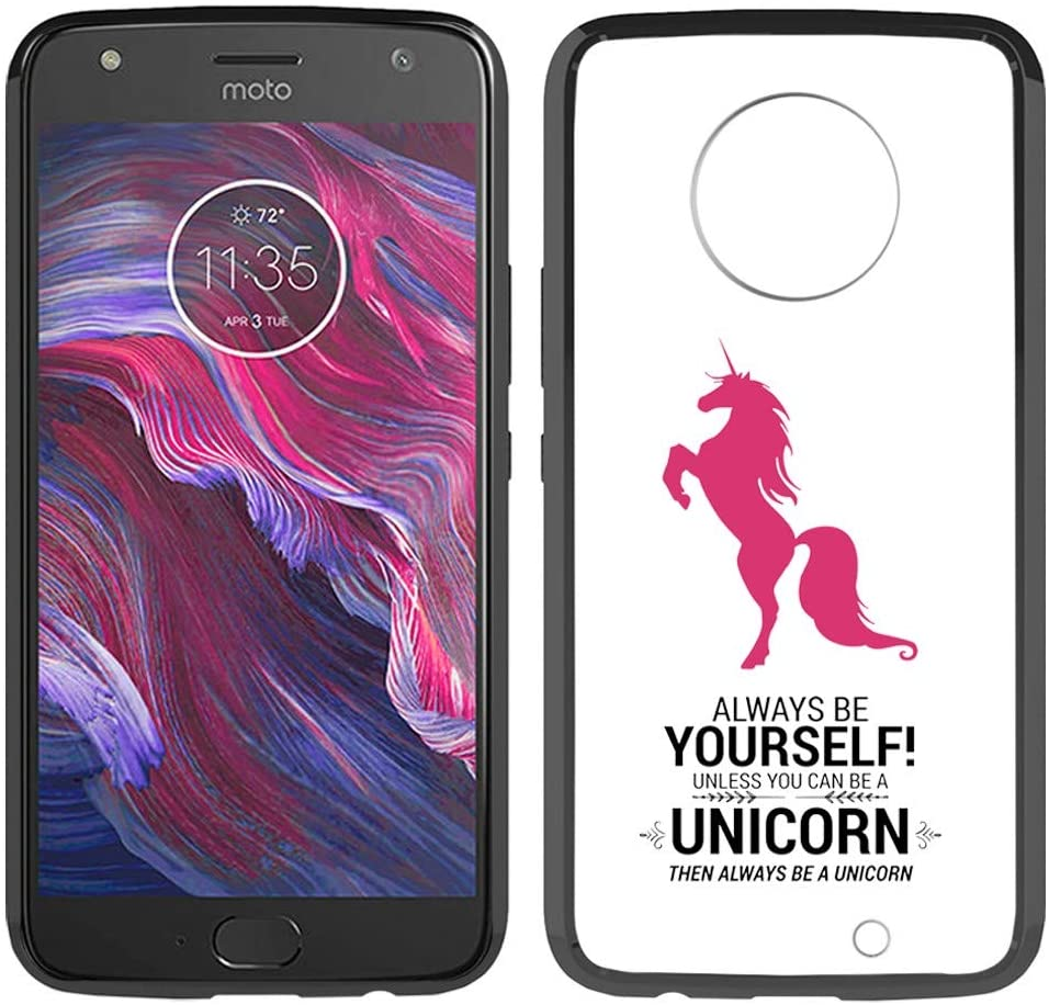 [Inkmodo] Clear TPU Case for Moto X4 - Always Be Yourself Unless You Can Be A Unicorn Printed Unique Design Pattern Cover