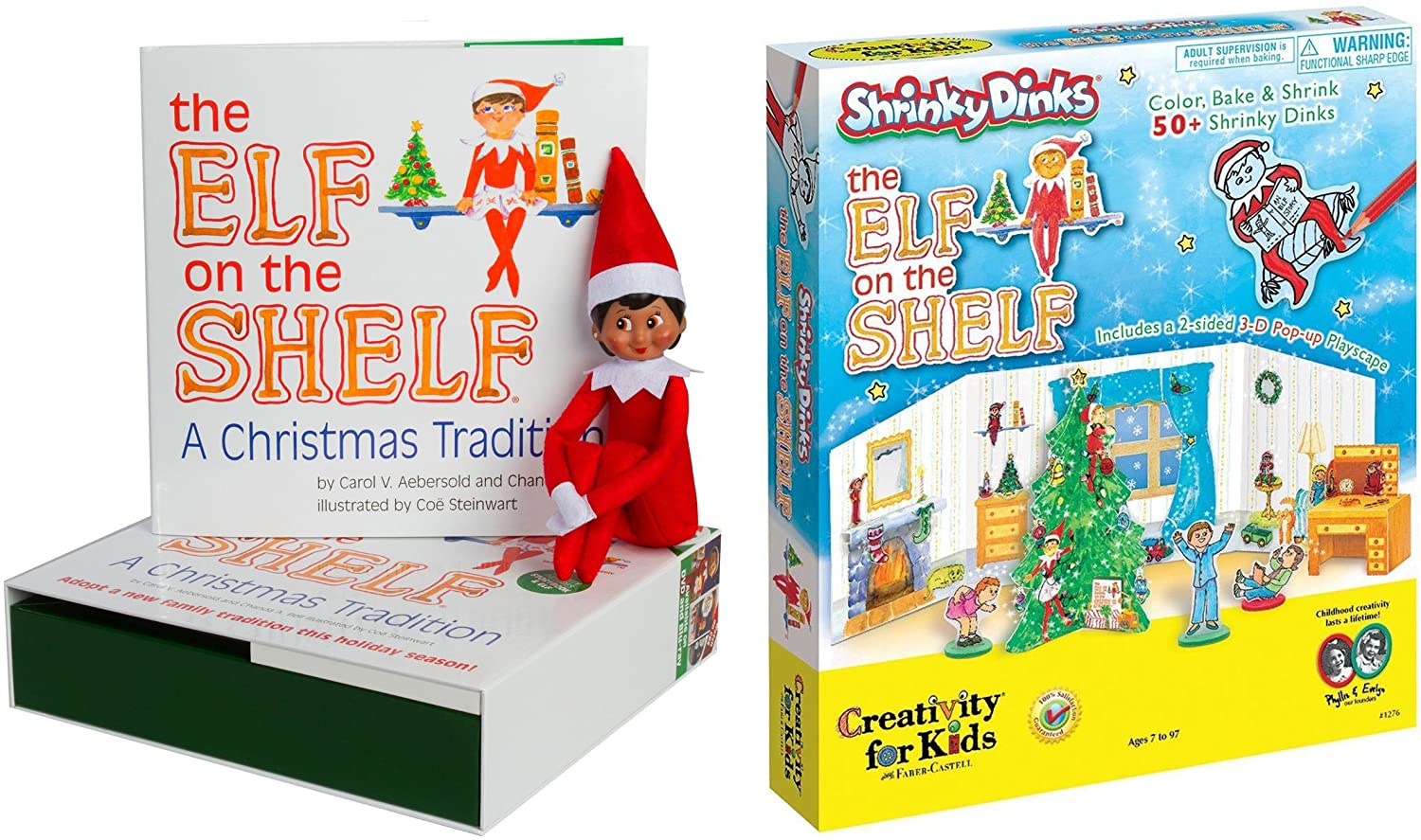 The Elf on the Shelf: A Christmas Tradition Brown Eyed North Pole Elf Girl with The Elf on the Shelf Shrinky Dinks