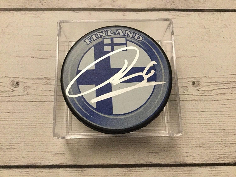 Julius Honka Signed Autographed Team Finland Hockey Puck a - Autographed NHL Pucks