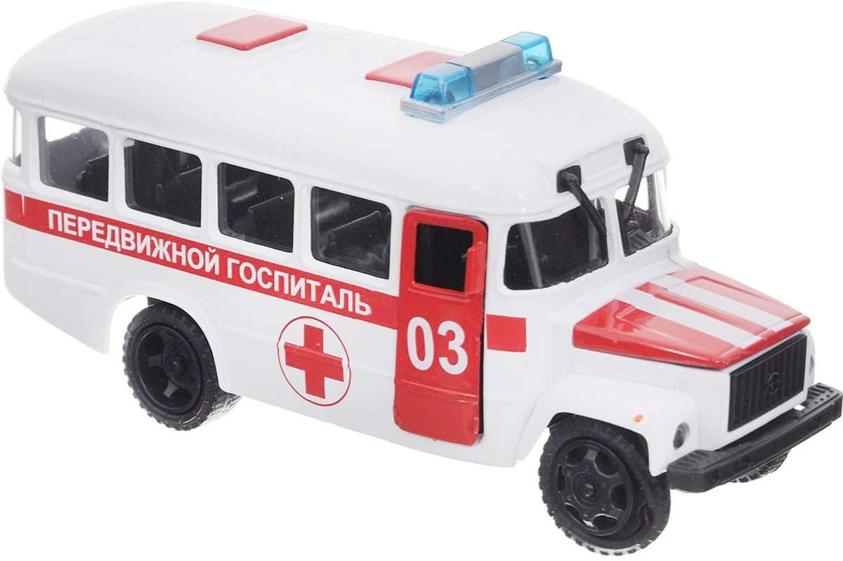 1:36 Scale Diecast Metal Model Bus KAvZ 3976 Russian Ambulance Hospital Die-cast Toy Cars