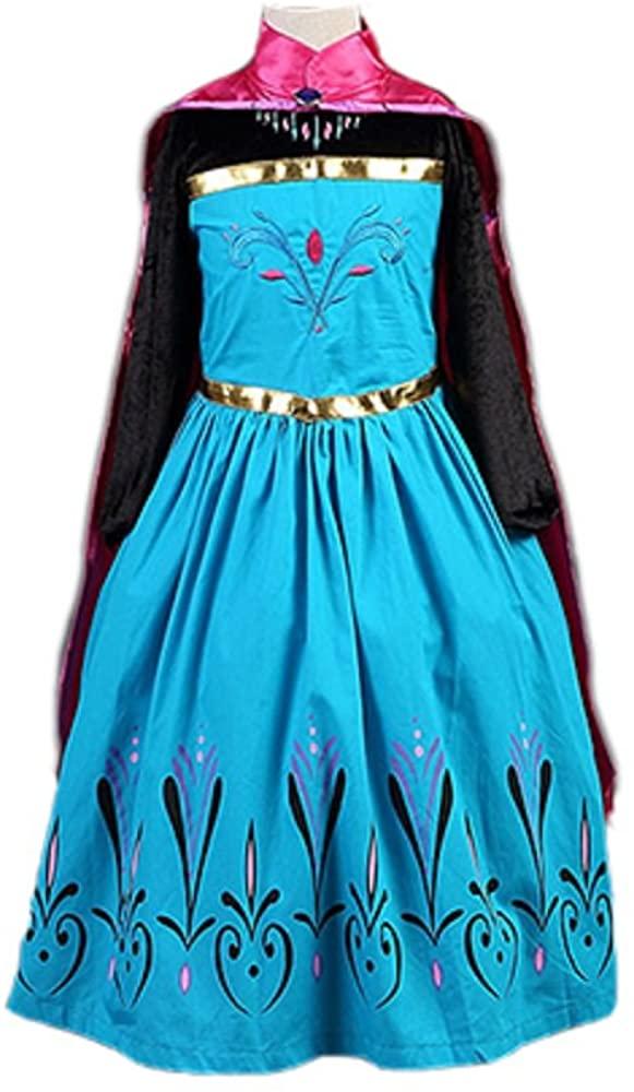 Daily Proposal FEC1 Girl Elsa Coronation Dress Halloween Costume Kids Size 3T-12 USA