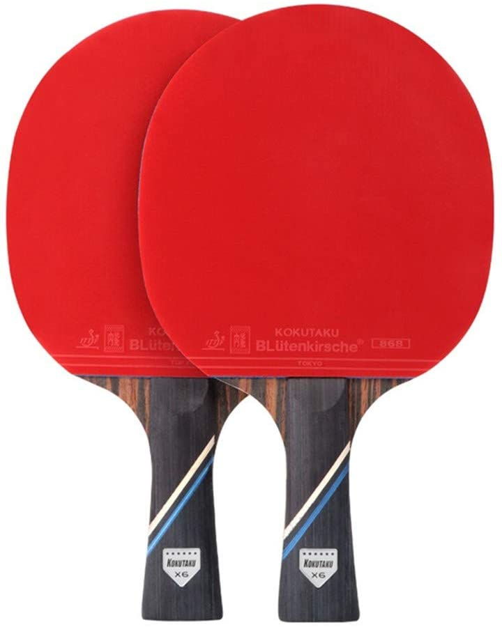 alivoda Paire Table Tennis Racket, Six Star Table Tennis Racket Set for Beginners Students