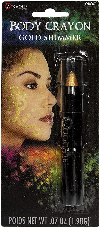 Woochie Body Crayon - Professional Quality Halloween Costume Cosmetics - Gold