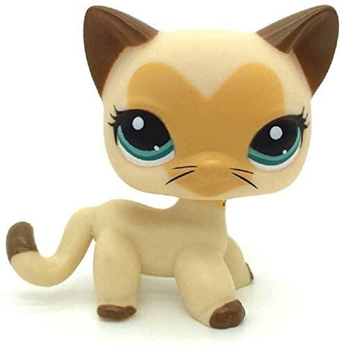 N/N Littlest Pet Shop, LPS Toy LPSs Tan Brown Heart Face Short Hair Cat Toys Rare