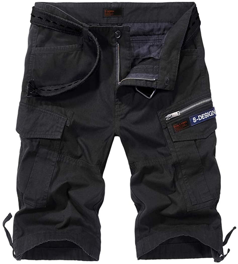 Modern Fantasy Men's Rugged Cargo Casual Cotton Camouflage Cargo Twill Utility Shorts