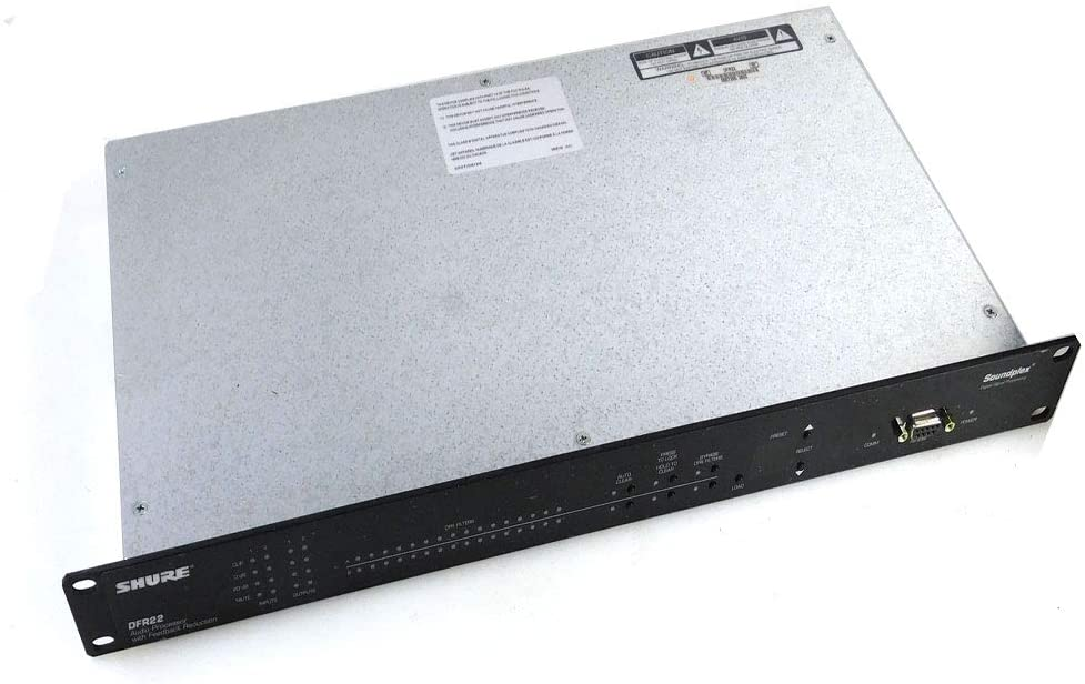 Shure DFR22 Audio Processor with Feedback Reduction - A Versatile and Powerful 2x2 Processor