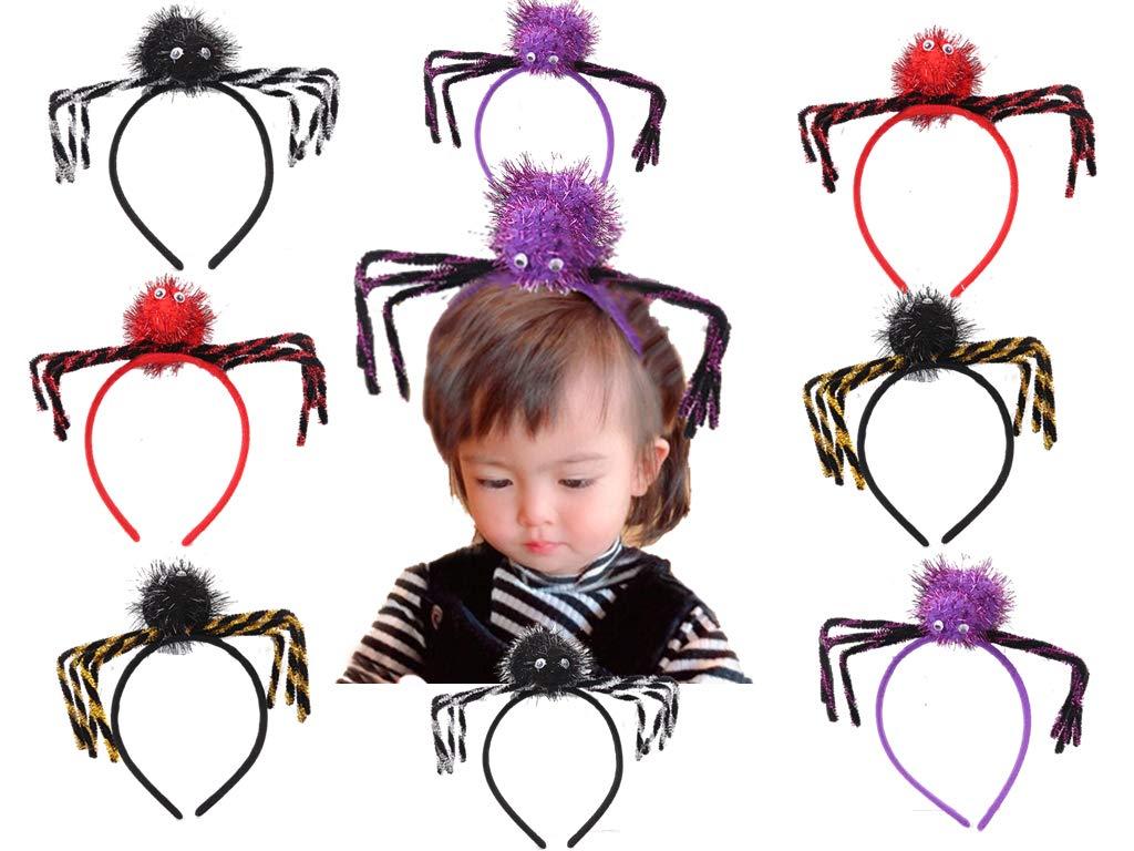 8 PCS Spider Headband Halloween Costume Headband for Costume Dress up Party Supplies