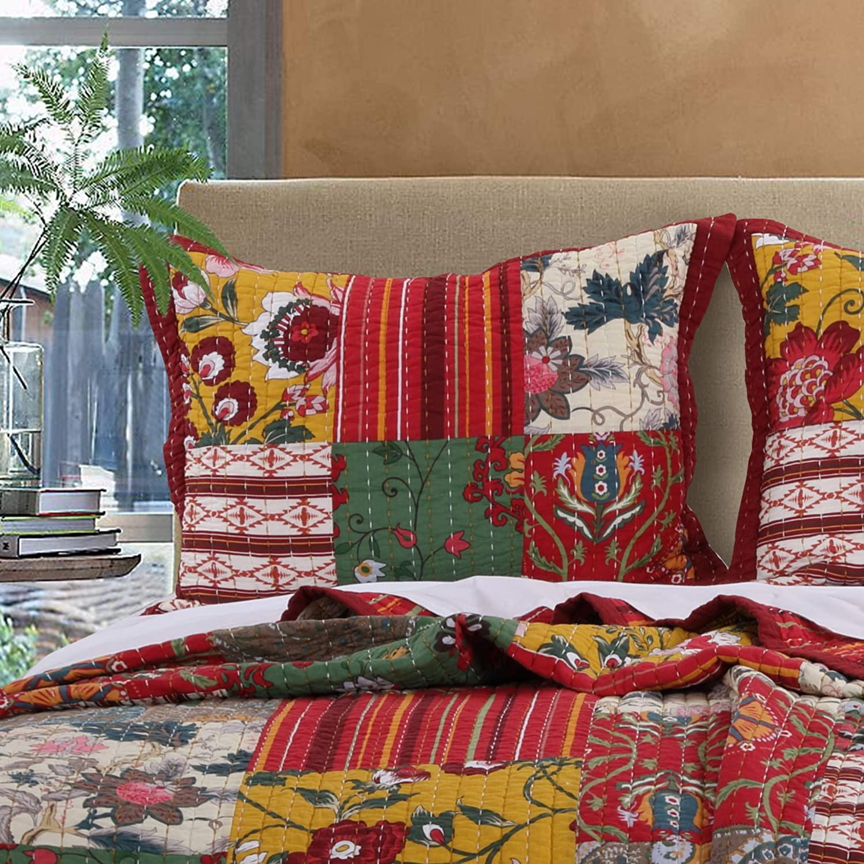 Greenland Home Arcadia Pillow Sham, King, Multicolored