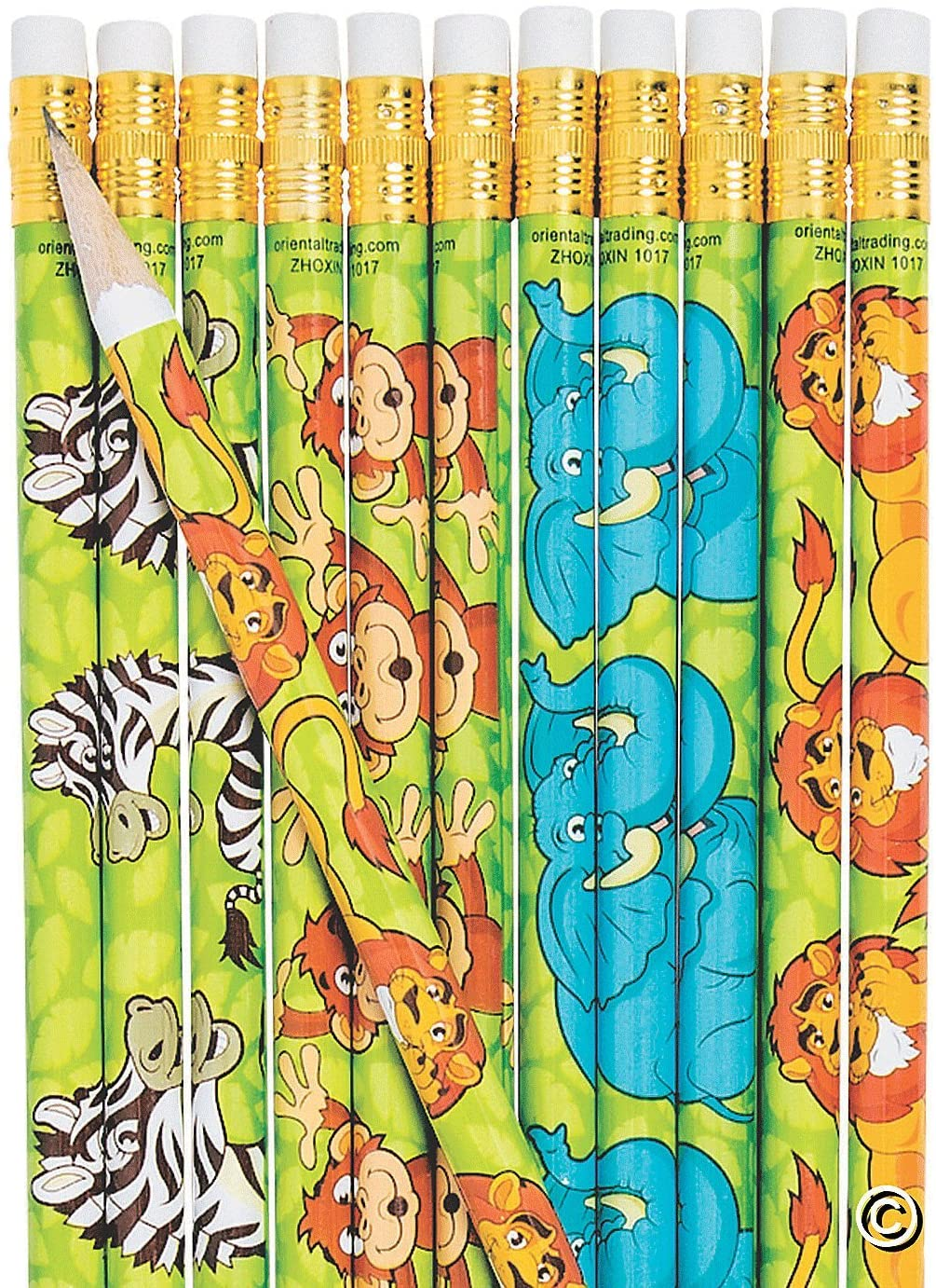 ZOO ANIMALS PENCIL - Stationery - 24 Pieces