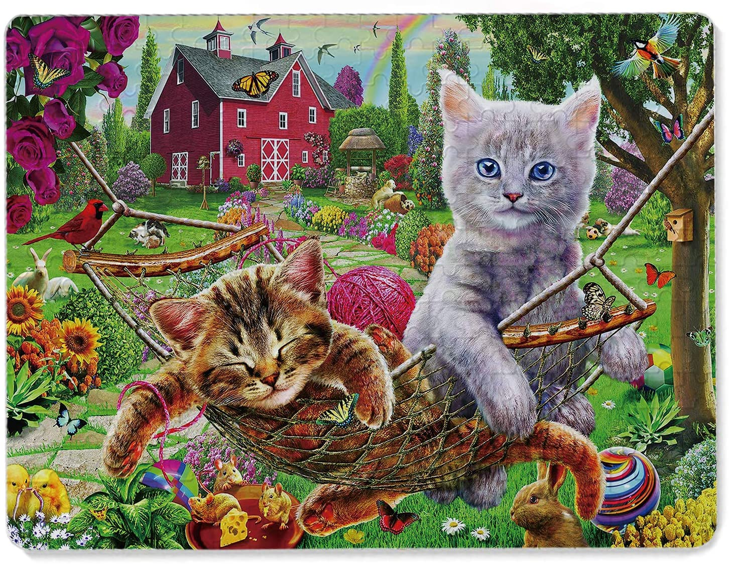 Jigsaw Puzzles 300 Piece, Cats Puzzles for Adults Kids Best Gifts for Family Friends
