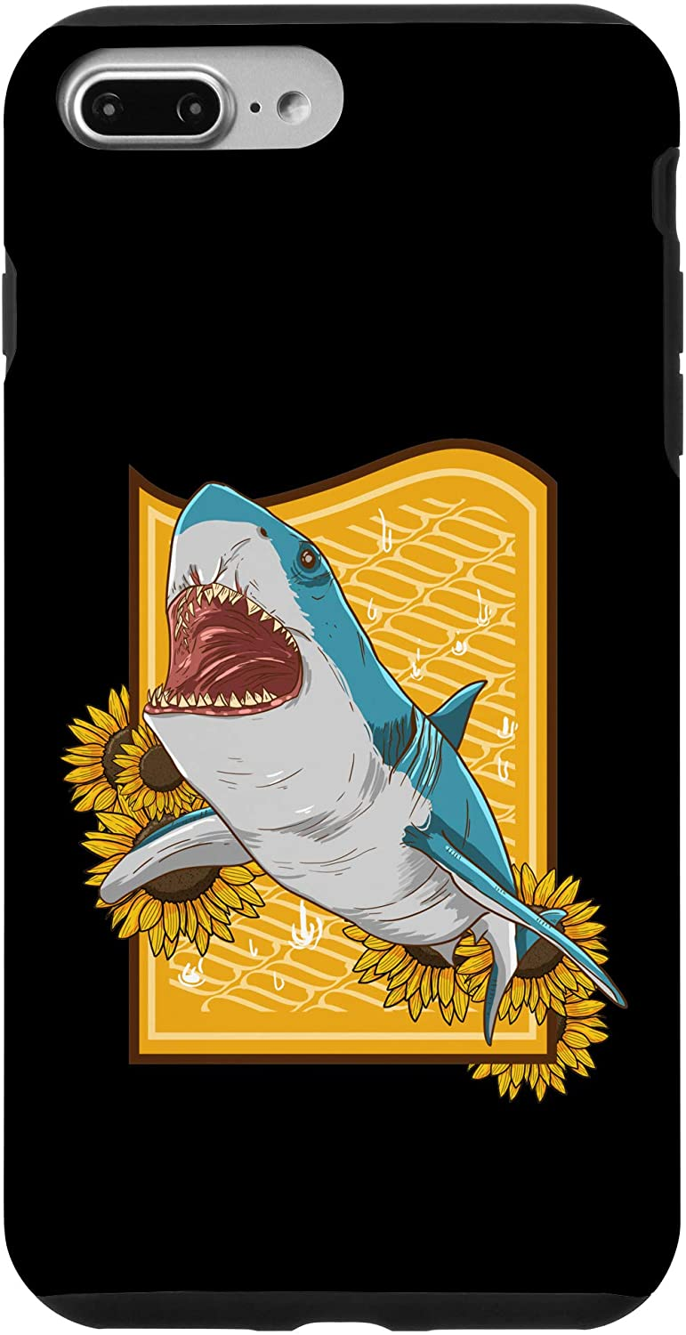 iPhone 7 Plus/8 Plus Shark Beer Sunflower Funny Alcoholic Sea Animal Floral Gift Case