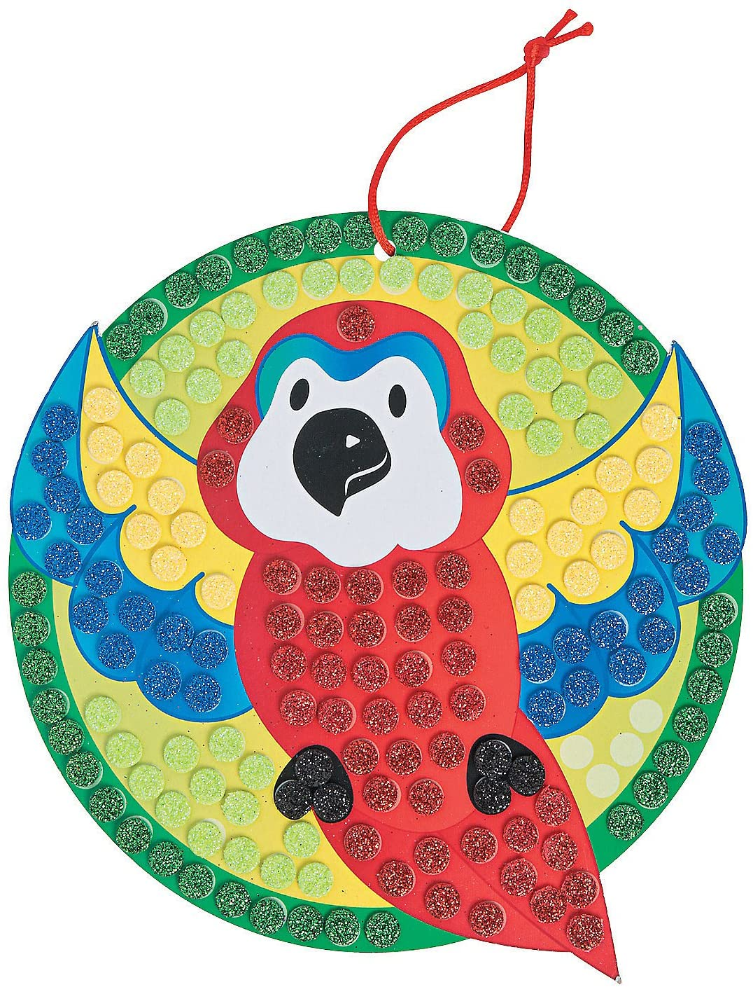 Glitter Mosaic Tropical Parrot Craft Kit -12 - Crafts for Kids and Fun Home Activities