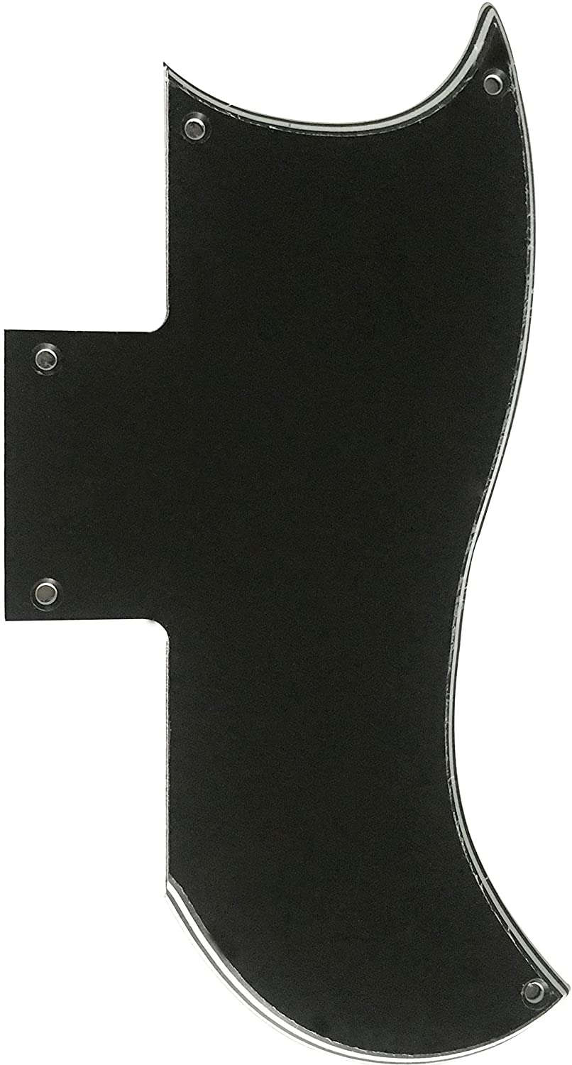 Fits Gibson SG 61 Reissue Style Guitar Pickguard (4 Ply Black)