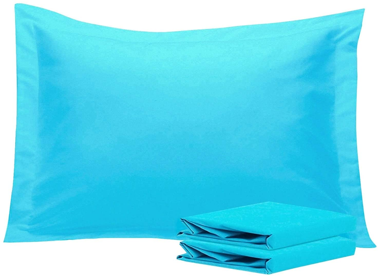 Overstock NTBAY Microfiber Pillow Shams Set of 2, Soft and Cozy Blue Queen (20