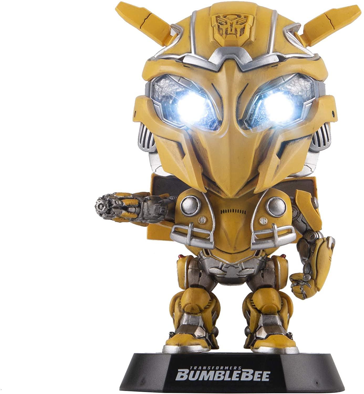 Killerbody Transformers Bumblebee Model kit,Head-Shaking Baby Figurine of Transformers Bumblebee, Car Interior Decoration, Home Decoration (Bumblebee (War Version))