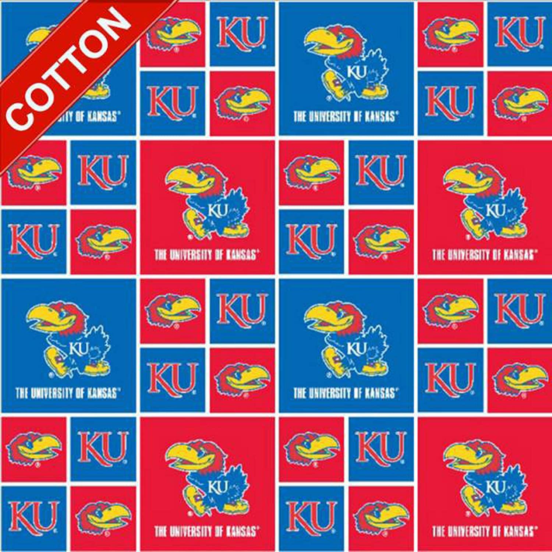 Pico Textiles University Kansas Jayhawks NCAA Cotton Fabric - 45