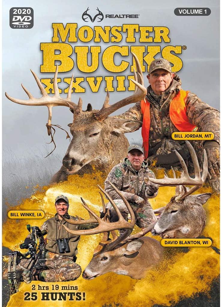 Realtree Monster Bucks XXVIII Volume 1 & Volume 2 (2020 Released) - Deer, Elk, Big Game, Hunting Video DVD Collection Production