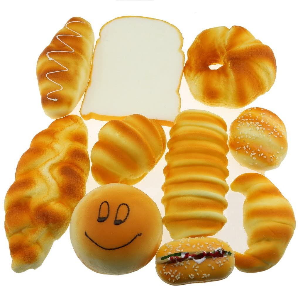 Gresorth Fake Cake Artificial Sesame Donuts Bread Home Decoration Kids Toy Photography - 10 PCS