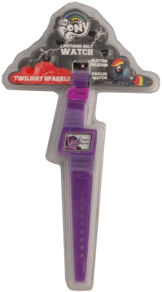My Little Pony Glitter Silicone Lightning Bolt Watch: Twilight Sparkle