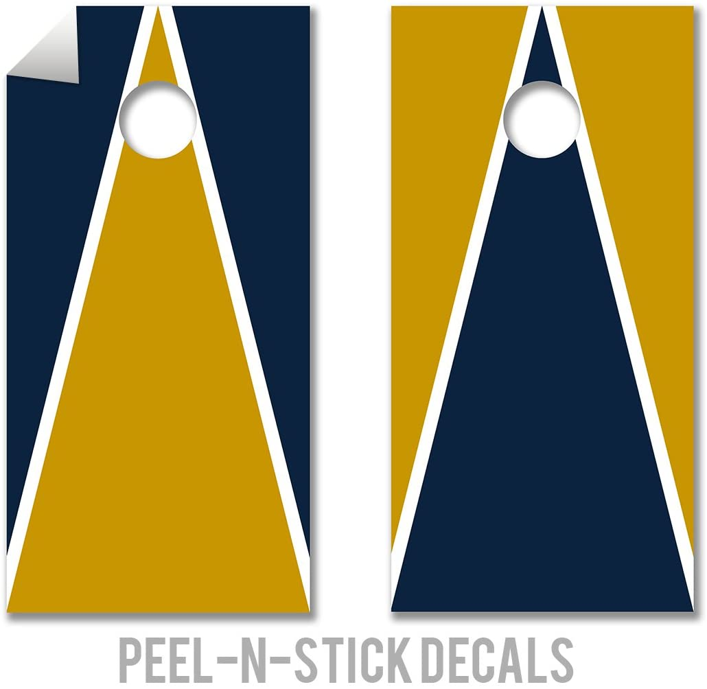 College Colors Cornhole Decals - Cornhole Crew - ACA Regulation Size Cornhole Board Decals