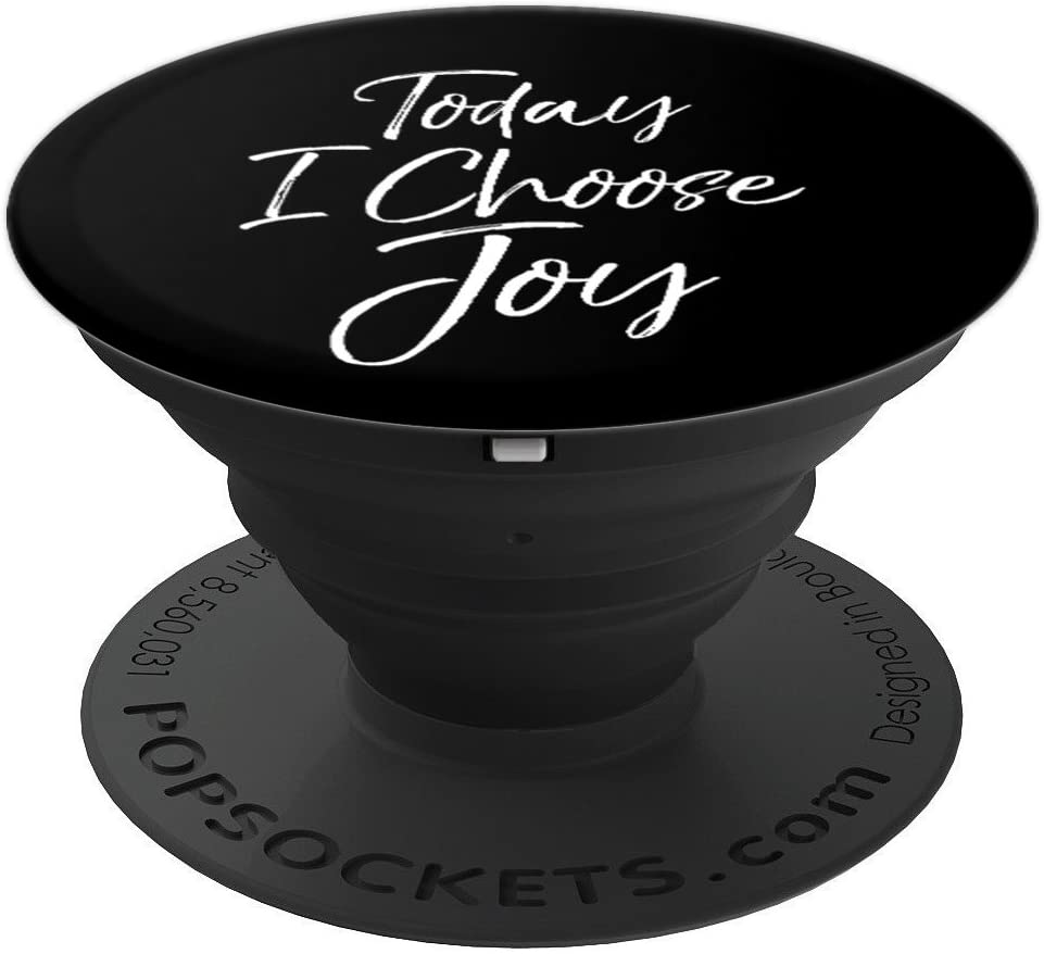 Today I Choose Joy PopSocket Grip Christian Bible Quote PopSockets Grip and Stand for Phones and Tablets