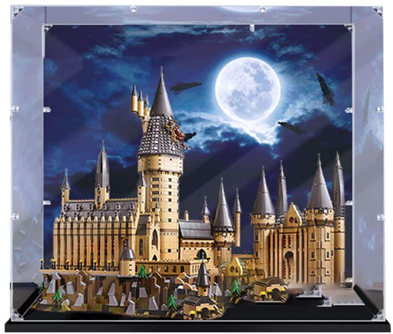 RAVPump 3mm Acrylic Display Case for Lego Harry Potter Hogwarts Castle - Clear Display Box Showcase Compatible with Lego 71043 ( Lego Set not Included )