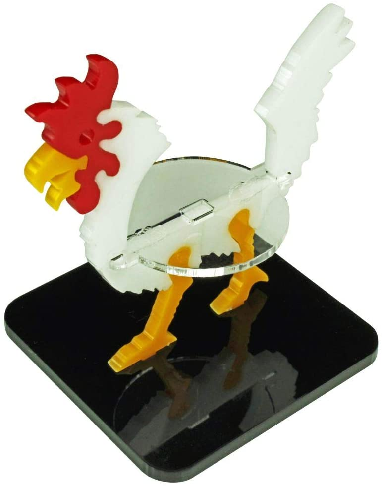 LITKO Giant Chicken Character Mount with 2-inch Square Base, White