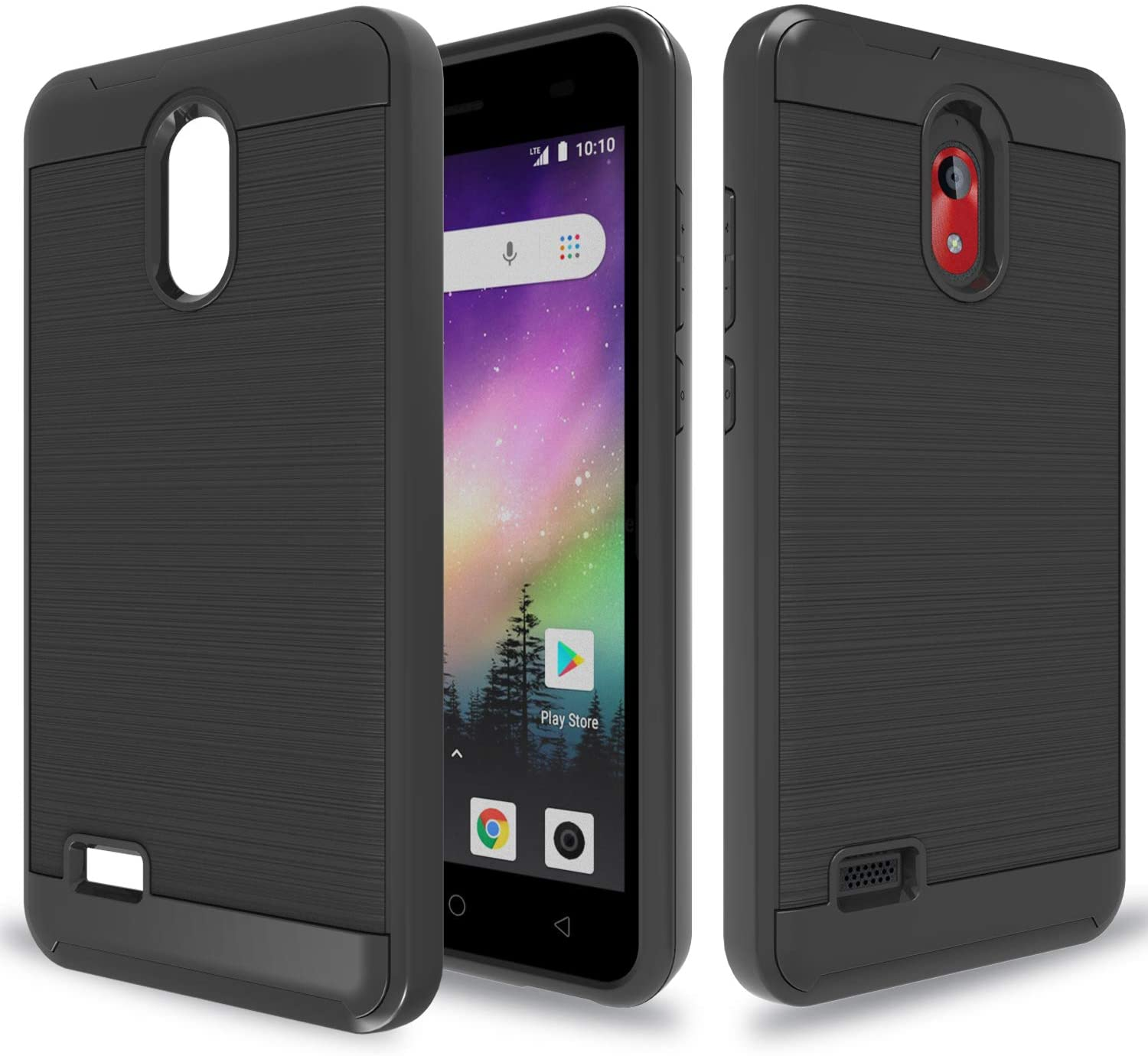 Wtiaw:Coolpad Illumina Case,Coolpad 3310A Case,Coolpad Legacy go Case,Coolpad Illumina (2018) Phone/Legacy go/Coolpad 3310A Phone Cases,Hybrid Dual Layer Defender Case for Legacy go-CL Black