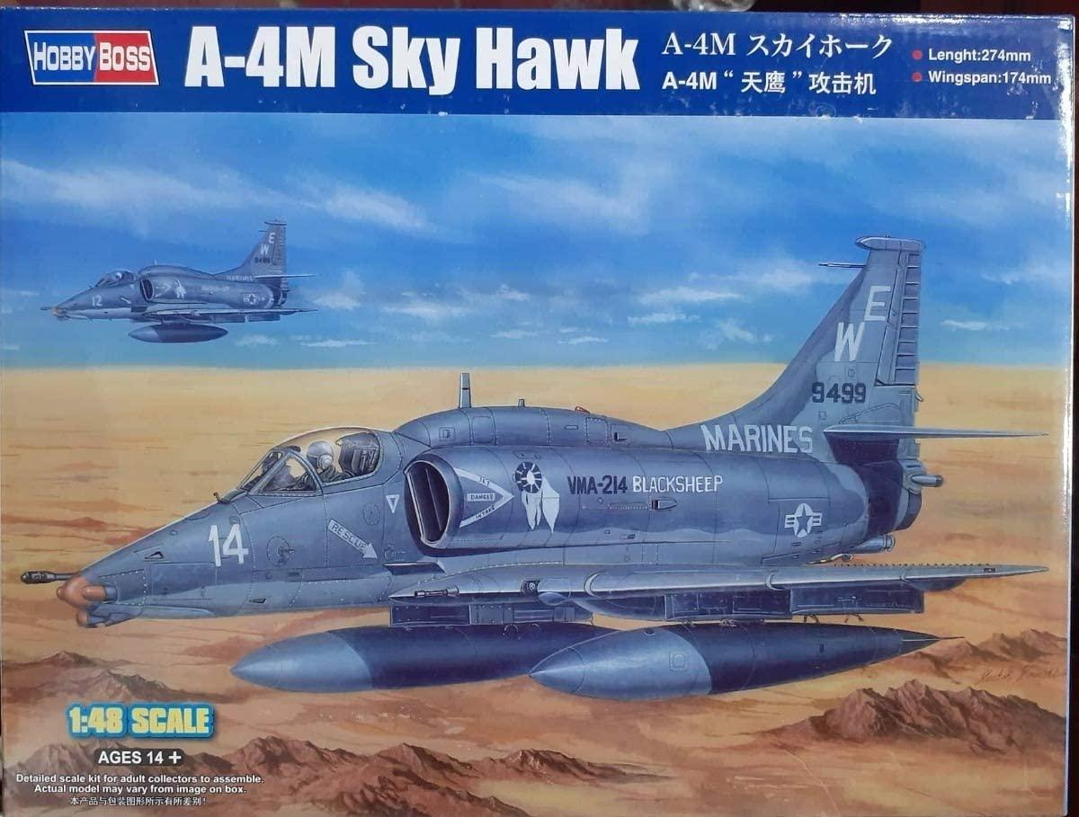 Hobby Boss 1/48 Scale A-4M Sky Hawk - Plastic Model Building Set # 81766