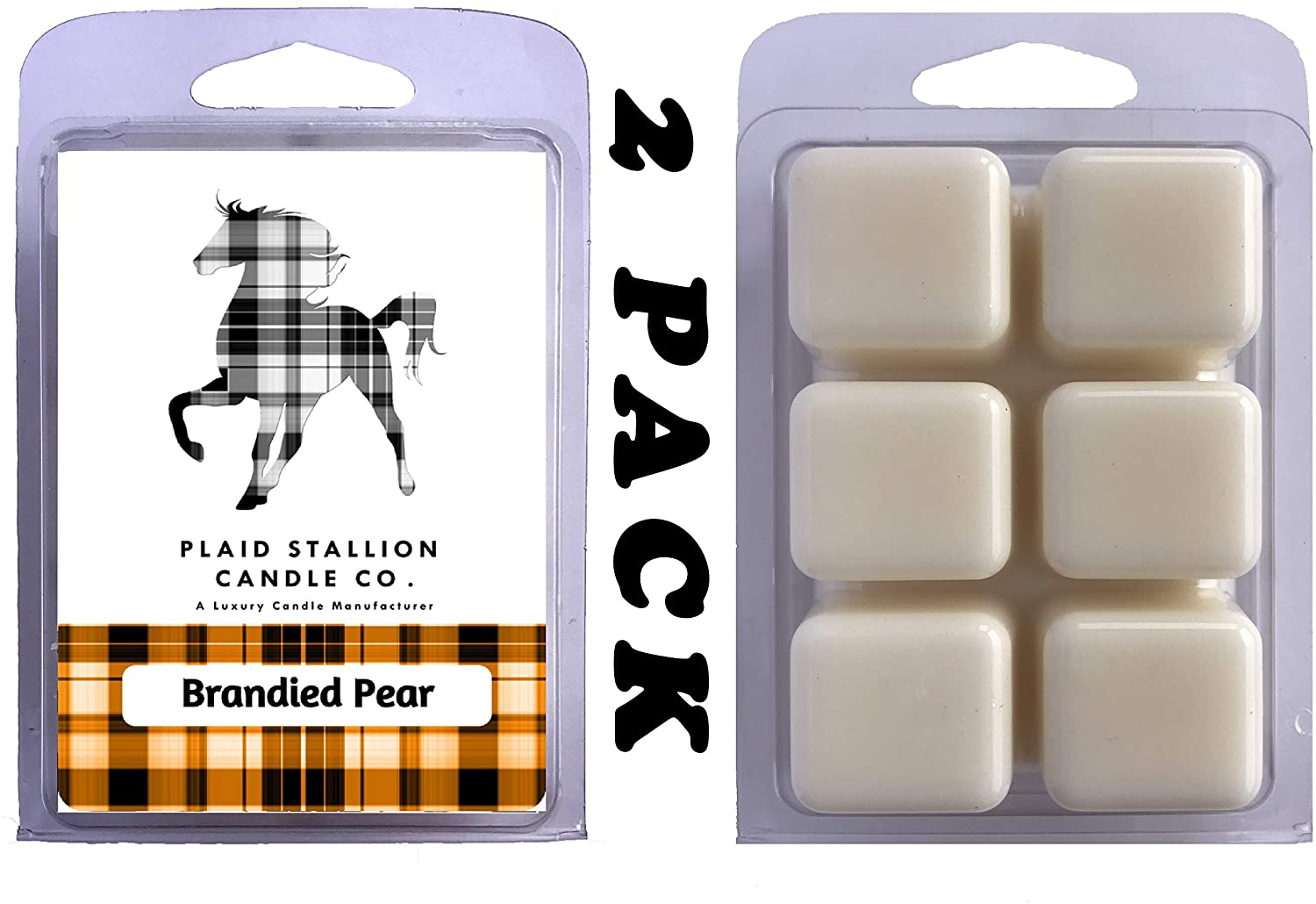 Brandied Pear - Long Lasting, Highly Scented Wax Melts, Many Scents to Choose from