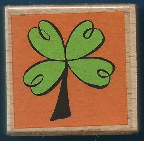 Rubber Stamps Four Leaf Clover Shamrocks Irish Card Fun Studio G Wood Mount Stamp for Teaching Card Making, DIY Crafts, Scrapbooking