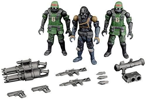 Toynami Acid Rain B2Five K6 Jungle Soldiers Action Figure, Green/Grey/Blue, Size 2.5