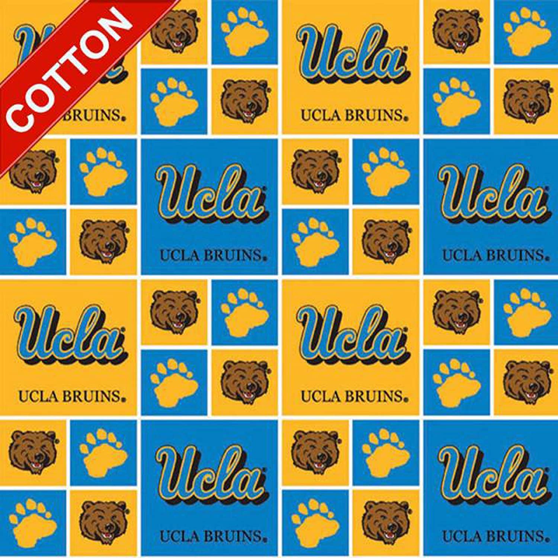 Pico Textiles University of California Los Angeles NCAA Cotton Fabric - 45 Wide - Style# UCLA-020