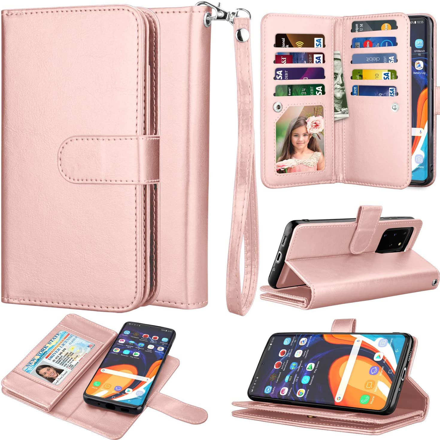Takfox Galaxy S20 Case, Galaxy S20 Wallet Phone Case 6.2