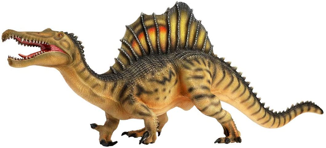 """Spinosaurus Toy Figure - 18"""" Realistic Sculpting - Hand Painted - Jurassic Toy with Fine Details with Colored Spines and Fierce Eyes, Teeth and Scales - Predatory Cretaceous Period Dinosaurs Toys"""