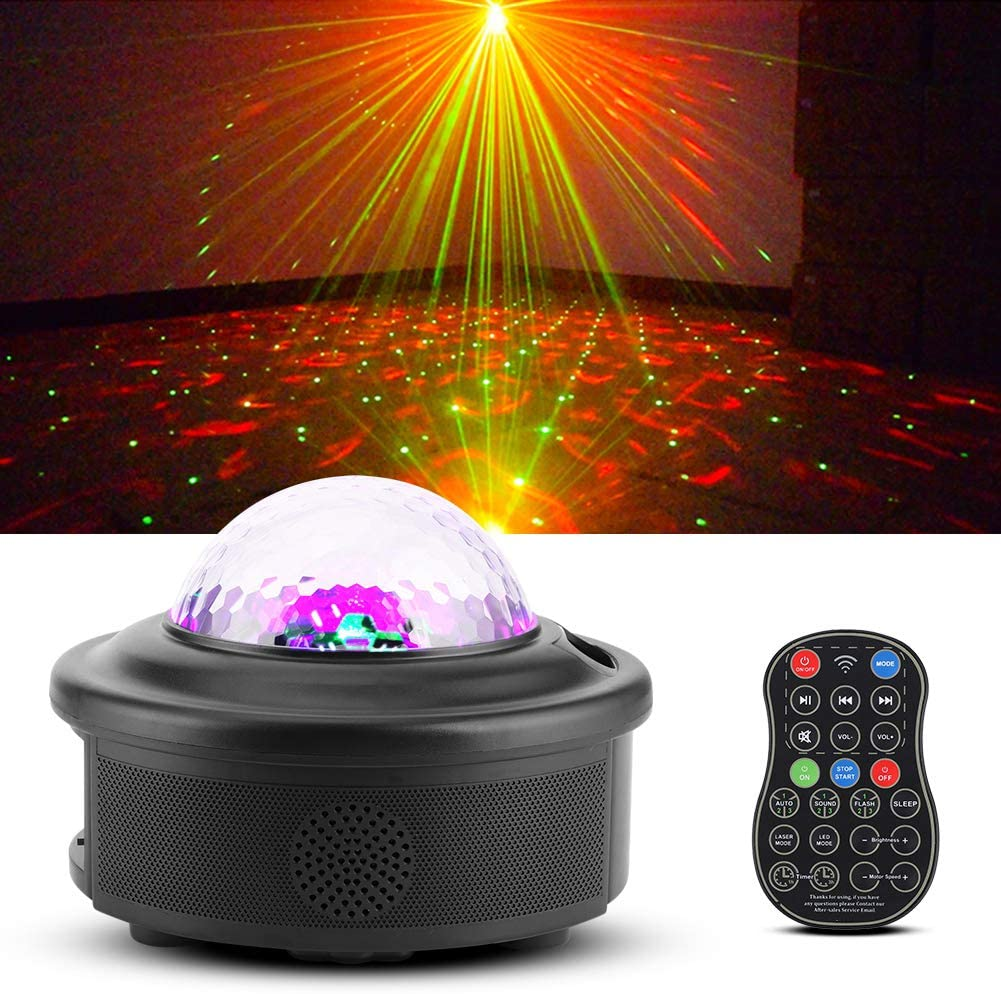 Disco Dj Party Stage Lights,Wireless Portable Beautiful Star Music Led Projection Stage Light,Safe And Reliable With Remote Control for Dance,Dj,Ktv,Dance Hall,Bar,Stage,Club,Xmas