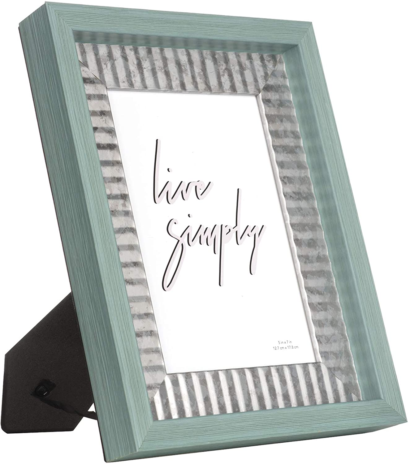 YOUNG POONG 5x7 Picture Frame Made of Ps for Table-Top Display and Wall Mounting Photo Frame
