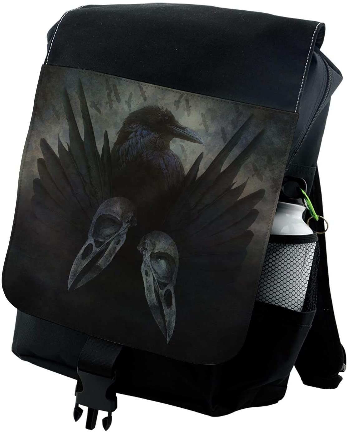 Lunarable Gothic Backpack, Mystic Crow Spirit Wings, Durable All-Purpose Bag