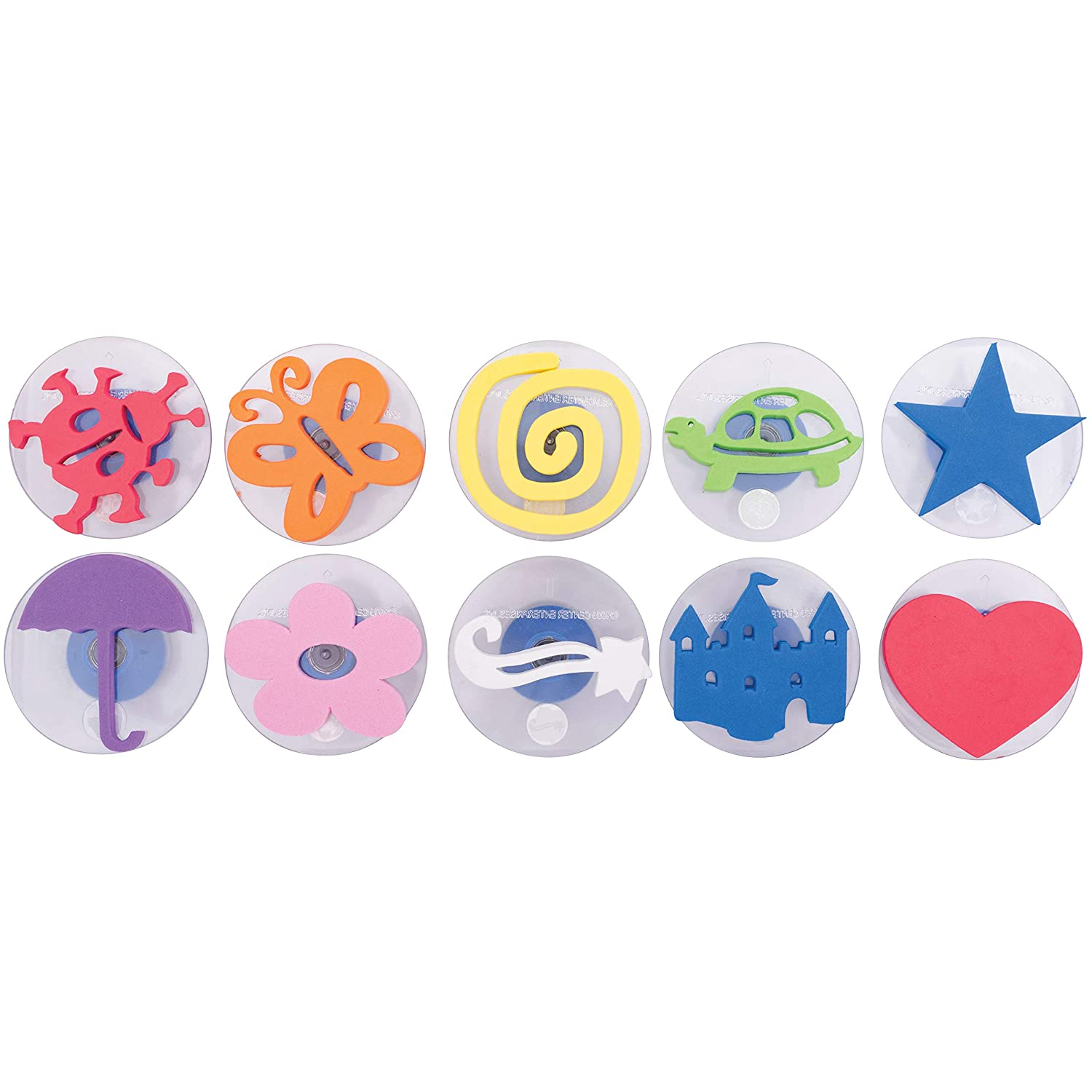 Ready 2 Learn Giant Stampers - Imaginative Play - Set 1 - Set of 10 - Easy to Hold Foam Stamps for Kids - Arts and Crafts Stamps for Displays, Posters, Signs and DIY Projects