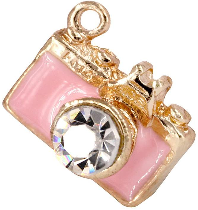 Creative DIY Pink Camera Charms Pendants Wholesale (Set of 3) MH18