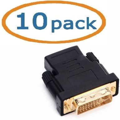 Aclgiants, ( 10 Pack ) HDMI to DVI Adapter, HDMI Female to/from DVI Male