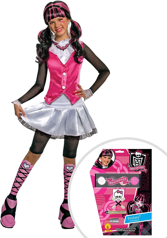 Girls Deluxe Draculaura Monster High Costume and Draculaura Monster High Makeup Kit