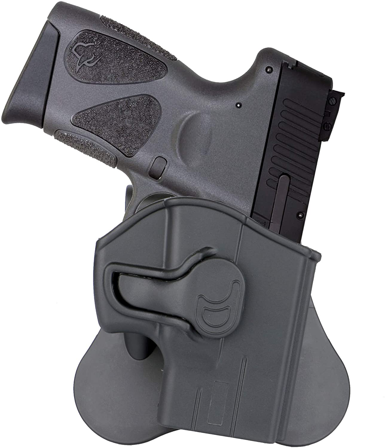 Taurus G3 G2c Holster, OWB Paddle Holsters Fits Taurus PT111 Millennium G2, G2C, G3, G3C, PT132, PT138, PT140, PT745, Polymer Open Carry Gun Holster, Tactical Holster, 360° Adjustable - Right Handed