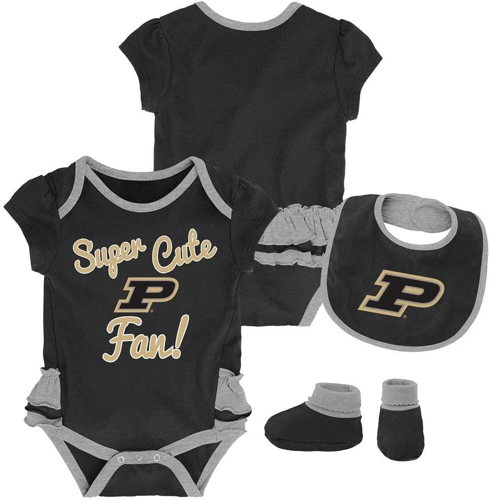 Outerstuff Purdue University Creeper, Bib and Bootie Set Infant Set
