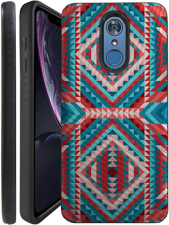 CasesOnDeck Case for LG K30/ LG Premier Pro LTE/LG Harmony 2/ LG Phoenix Plus - Combat Bump and Drop Dual Layer Slim Defender Cover (Tribal)